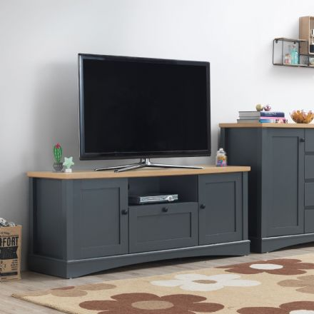 Carden Grey TV Cabinet with 2 Doors & 1 Drawer